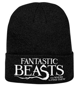 Idee regalo Berretto Fantastic Beasts. Logo Knitted Ski Hat Plastic Head