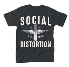 T-Shirt Unisex Social Distortion. Winged Wheel
