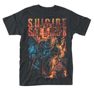 T-Shirt Unisex Suicide Silence. Zombie Angst