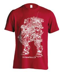 T-Shirt Unisex Titanfall 2. Titan Scortch Line Art