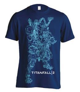 T-Shirt Unisex Titanfall 2. Titan Bt Line Art