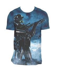 T-Shirt Unisex Tg. L Star Wars Rogue One. Death Pose