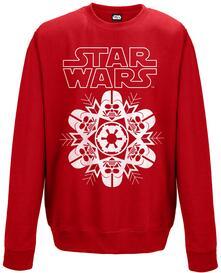 Felpa Unisex Tg. 2XL Red Star Wars. Vader Snowflake