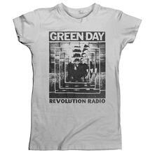 Green Day. Power Shot T-Shirt, Girlie Womens: 14