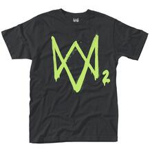 T-Shirt Unisex Tg. L Watch Dogs 2. Neon Logo