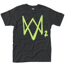 T-Shirt Unisex Tg. Xl Watch Dogs 2. Neon Logo
