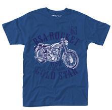 T-Shirt Unisex Bsa. Rocket Gold Star