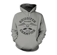 Felpa con Cappuccio Unisex Harry Potter. Quidditch Champion