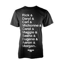 T-Shirt Unisex Walking Dead. Names