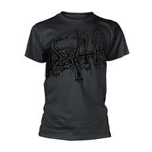 T-Shirt Unisex Tg. L Death - Large Logo - Black Dye Sub With Black Overdye