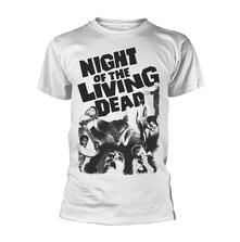 T-Shirt Unisex Tg. L Plan 9 - Night Of The Living Dead White