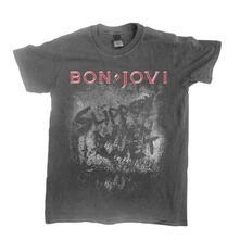 T-Shirt Unisex Tg. L Bon Jovi - Slippery When Wet Vintage Wash