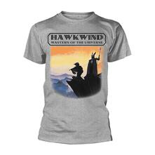 T-Shirt Unisex Tg. L Hawkwind - Masters Of The Universe Grey