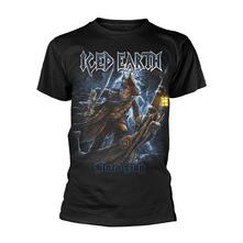 T-Shirt Unisex Tg. M. Iced Earth: Black Flag