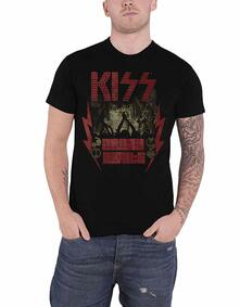 T-Shirt Unisex Tg. 2XL. Kiss - Crazy Nights
