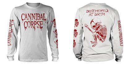 T-Shirt Unisex Tg. XL. Cannibal Corpse: Butchered At Birth