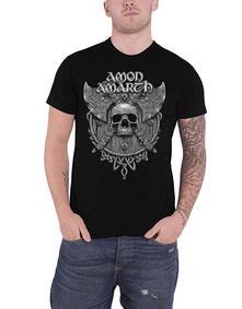 T-Shirt Unisex Tg. M Amon Amarth: Grey Skull