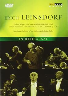 Erich Leinsdorf. In Rehearsal (DVD) - DVD di Erich Leinsdorf