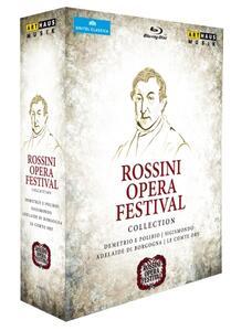 Rossini Opera Festival Collection (4 Blu-ray) di Pierluigi Pier'Alli,Davide Livermore,Damiano Michieletto,Lluis Pasqual