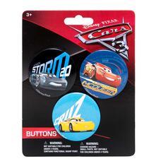 Cars 3. 3 Spille Di Metallo 3,8 Cm Su Backercard