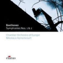 Sinfonie n.1, n.2 - CD Audio di Ludwig van Beethoven,Nikolaus Harnoncourt,Chamber Orchestra of Europe