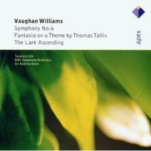 Sinfonia n.6 - The Lark Ascending - Fantasia su un tema di Thomas Tallis - CD Audio di Ralph Vaughan Williams,Andrew Davis,Tasmin Little,BBC Symphony Orchestra