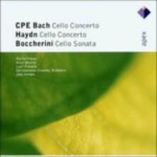 Concerti per violoncello / Sonata in La - CD Audio di Carl Philipp Emanuel Bach,Luigi Boccherini,Franz Joseph Haydn