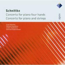 Concerti per pianoforte con archi e a quattro mani - CD Audio di Alfred Schnittke,London Sinfonietta,Viktoria Postnikova,Gennadi Rozhdestvensky