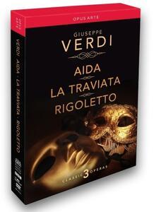 Giuseppe Verdi. Aida, La Traviata, Rigoletto (3 DVD) di Jose Antonio Gutierrez,David McVicar