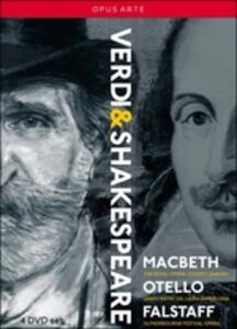 Giuseppe Verdi. Verdi & Shakespere: Macbeth, Otello, Falstaff (4 DVD) - DVD