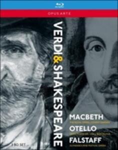 Giuseppe Verdi. Verdi & Shakespere: Macbeth, Otello, Falstaff (3 Blu-ray) - Blu-ray