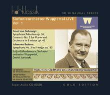 Sinfonieorchester Wuppertal Live vol.1 - SuperAudio CD di Erno Dohnanyi,Sofja Gulbadamova,Dmitri Jurowski