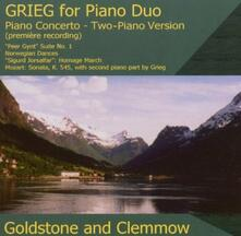 Music For Piano Duo - CD Audio di Edvard Grieg