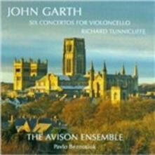 6 Concerti per violoncello - CD Audio di Avison Ensemble,John Garth,Richard Tunnicliffe