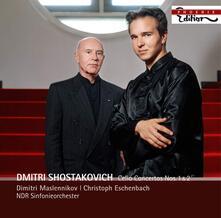 Concerti per violoncello n.1, n.2 - CD Audio di Dmitri Shostakovich,Christoph Eschenbach,NDR Symphony Orchestra,Dimitri Maslennikov