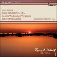 Cinque Pezzi per Pianoforte Op.39, Sonata per Pianoforte n.2 Op.59 - CD Audio di Ernst Krenek