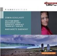 Musica per pianoforte - CD Audio di Erwin Schulhoff