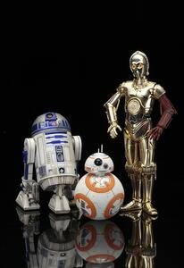 Star Wars: R2-D2 With C-3Po And Bb-8 1:10 Scale Snap Fit Figures - 2