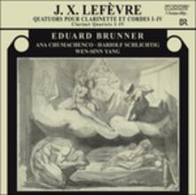 Quartetti per Clarinetto e Archi - CD Audio di Jean-Xavier Lefèvre