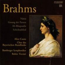 Nänie - Gesang der Parzen - Alt-Rhapsodie, - SuperAudio CD ibrido di Johannes Brahms