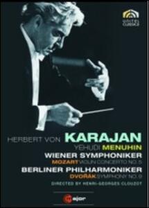 Herbert Von Karajan. Mozart Violin Concerto No. 5. Dvorák Symphony No. 9 - DVD