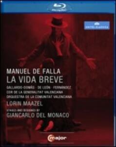 Manuel De Falla. La vida breve di Giancarlo Del Monaco - Blu-ray