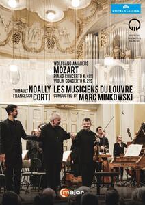 Wolfgang Amadeus Mozart. Piano Concerto K. 488. Violin Concerto K. 219 - DVD