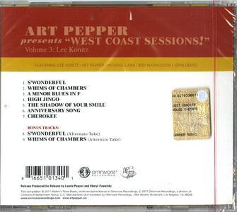 Art Pepper presents West Coast Sessions! vol.3 - CD Audio di Art Pepper - 2