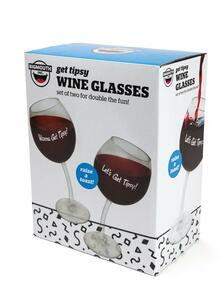 Big Mouth Bmwg-0019 Wine Glass Tipsy Pair