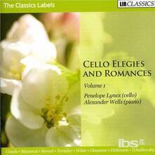 Cello Elegies And - CD Audio