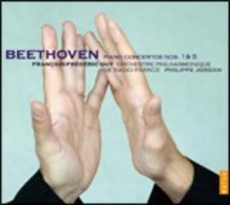 Concerti per pianoforte n.1, n.5 - CD Audio di Ludwig van Beethoven,François-Frédéric Guy