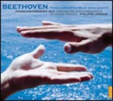 Concerto per pianoforte n.4 / Quintetto per strumenti a fiato - CD Audio di Ludwig van Beethoven,Orchestra Filarmonica di Radio France,François-Frédéric Guy,Philippe Jordan