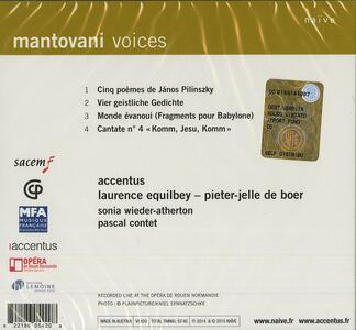 Accentus - CD Audio di Bruno Mantovani