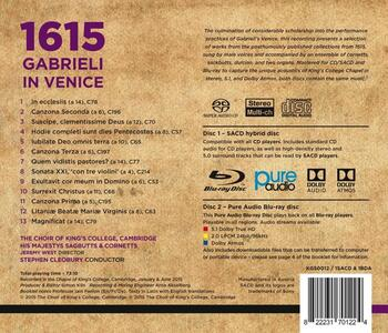 1615. Gabrieli a Venezia - CD Audio di King's College Choir - 2